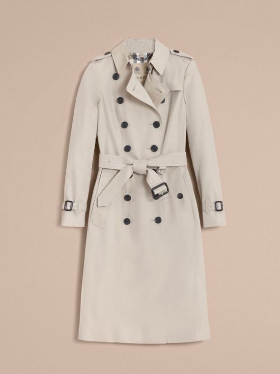 The Chelsea – Extra-long Heritage Trench Coat in Stone - Women | Burberry - cell image 3