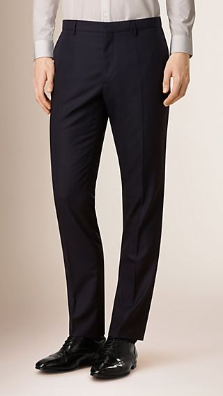 Modern Fit Wool Trousers