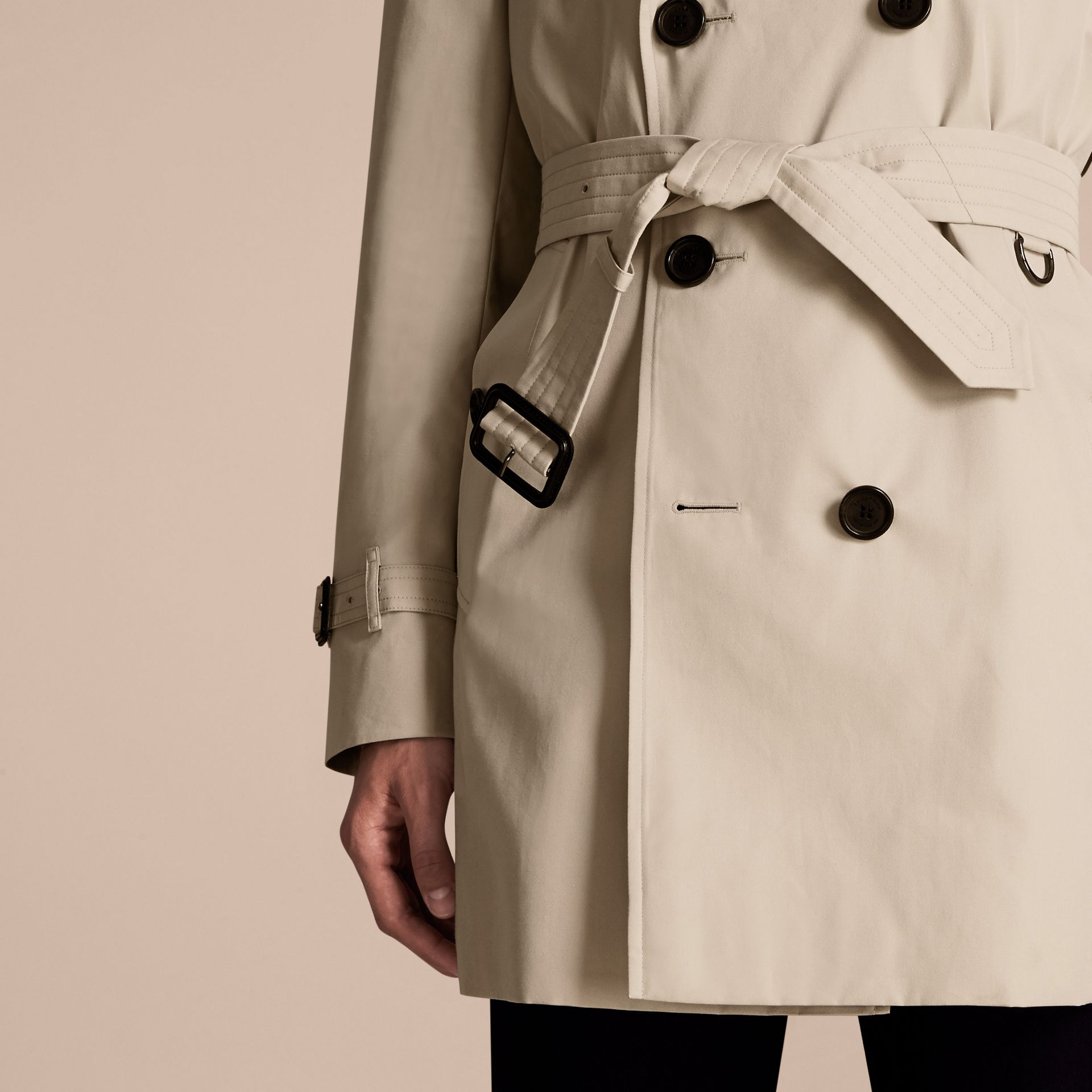 Stone The Sandringham – Mid-length Heritage Trench Coat Stone - gallery image 6