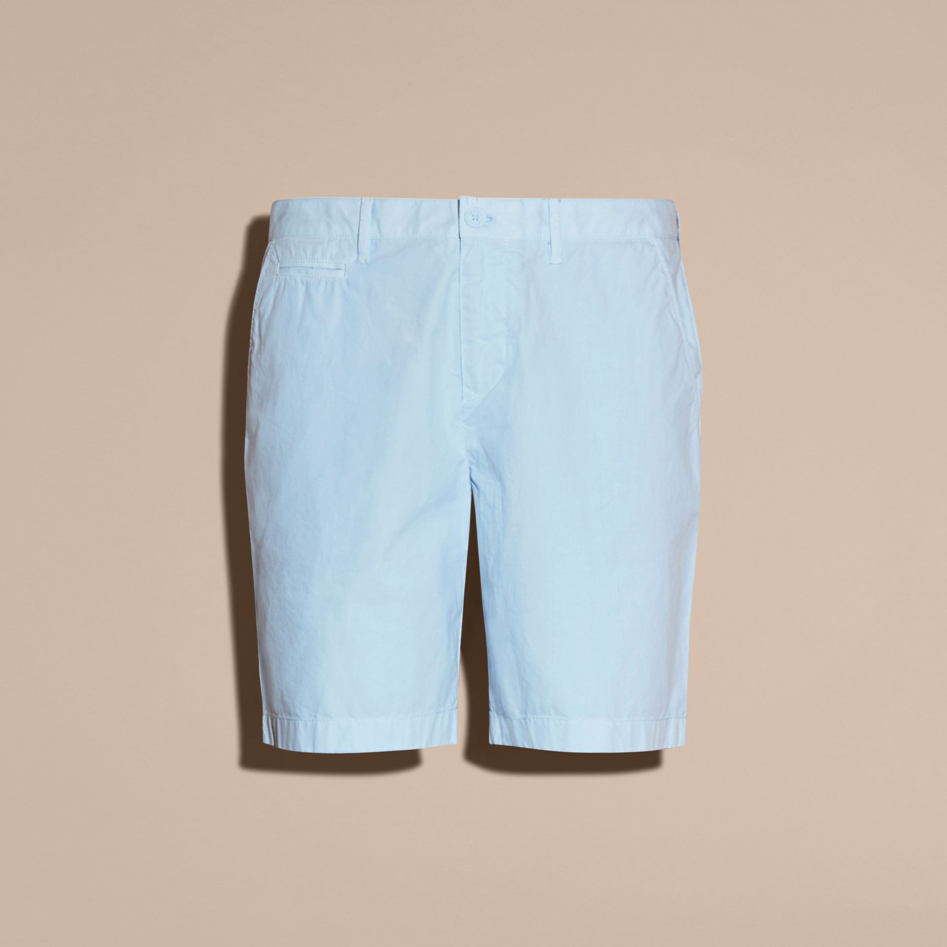 Cotton Poplin Chino Shorts Pale Opal Blue - gallery image 4
