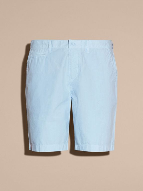 Cotton Poplin Chino Shorts Pale Opal Blue - cell image 3