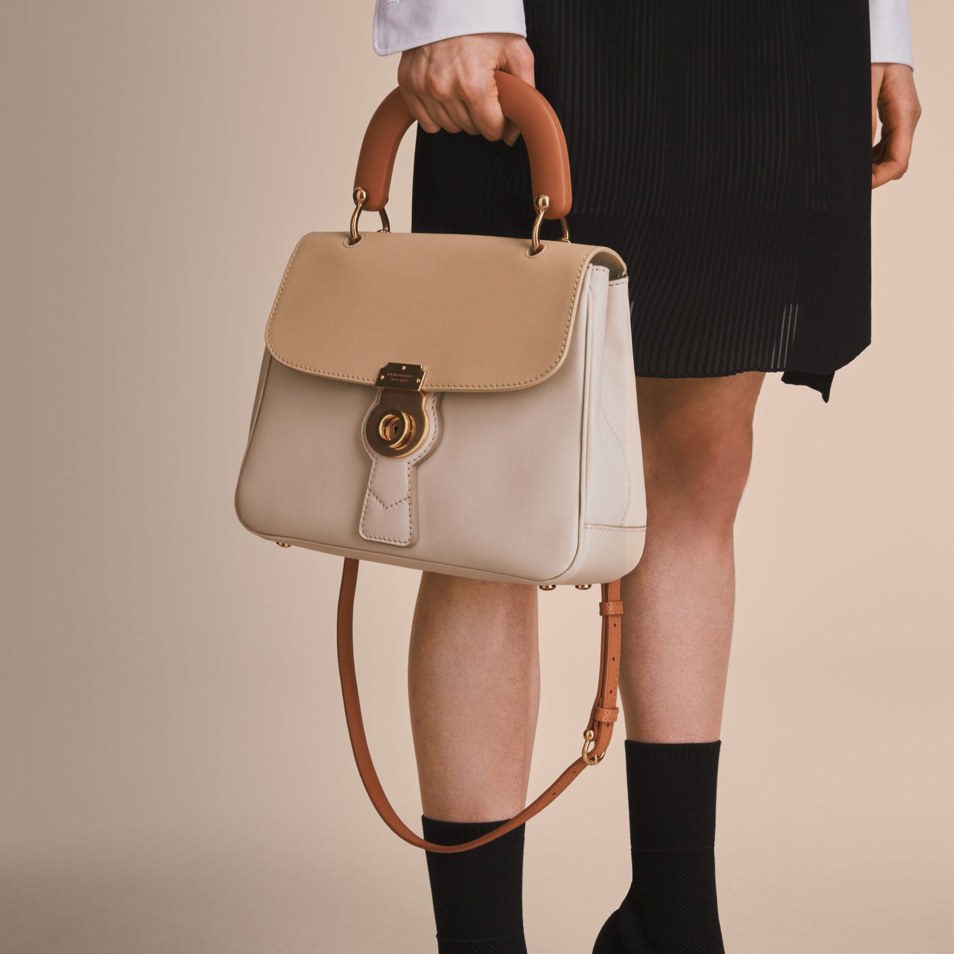 The Medium DK88 Top Handle Bag in Limestone/honey - Women | Burberry - gallery image 8