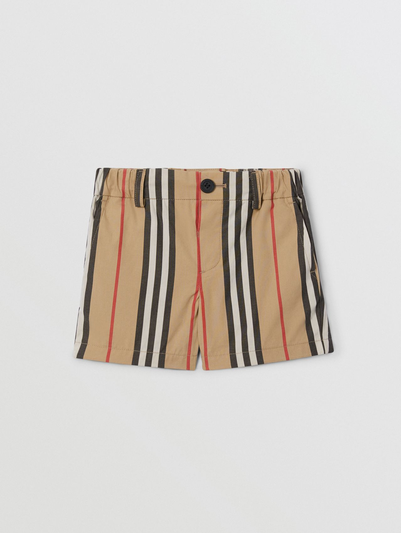 Icon Stripe Cotton Chino Shorts (Archive Beige)