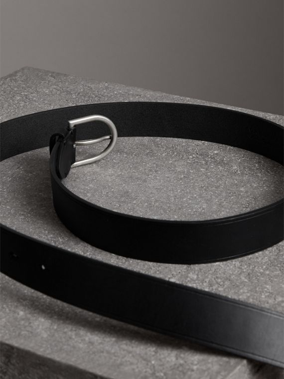 Bridle Leather Belt in Black - Men | Burberry - cell image 3