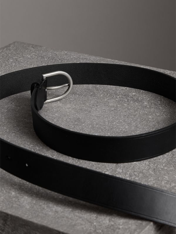 Bridle Leather Belt in Black - Men | Burberry United Kingdom - cell image 3