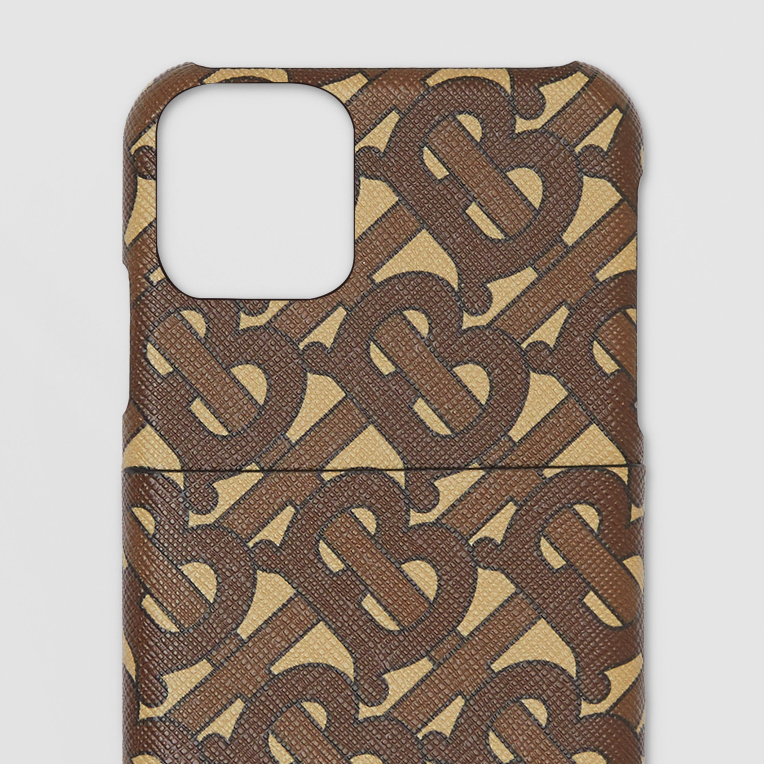 Monogram Print E-canvas iPhone 11 Pro Case in Bridle Brown - Men | Burberry - 2