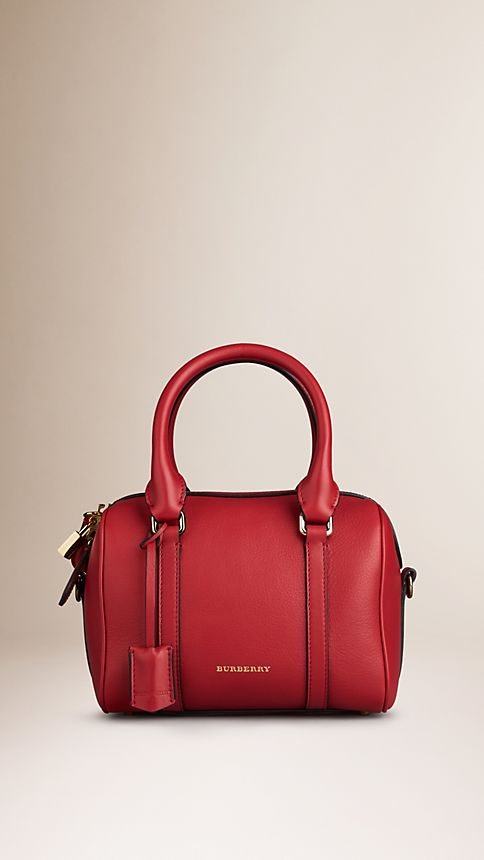 Parade red The Small Alchester in Leather - Image 1