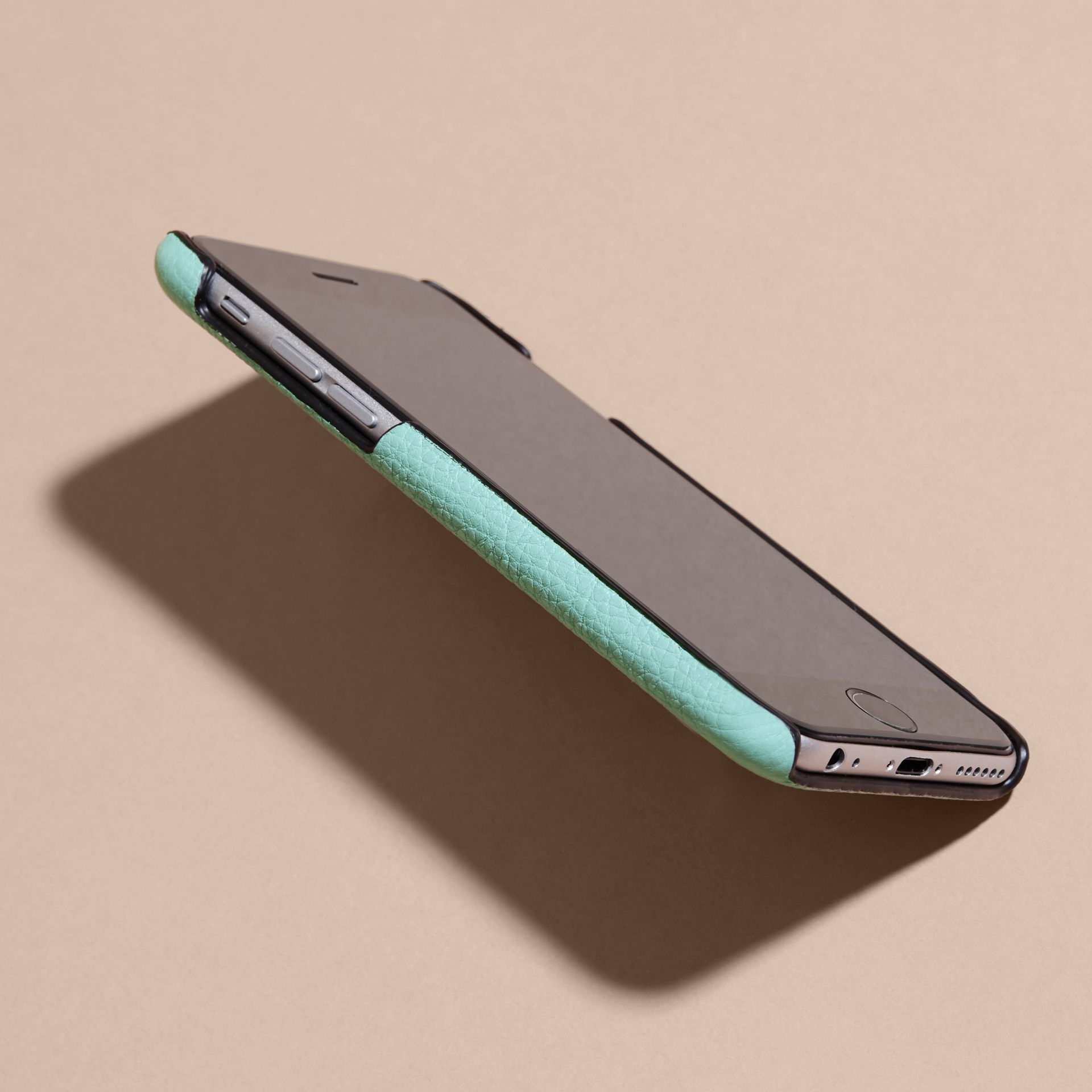 Grainy Leather iPhone 6 Case in Pale Opal - Women | Burberry Hong Kong - gallery image 3