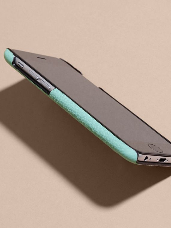 Grainy Leather iPhone 6 Case in Pale Opal - Women | Burberry - cell image 2