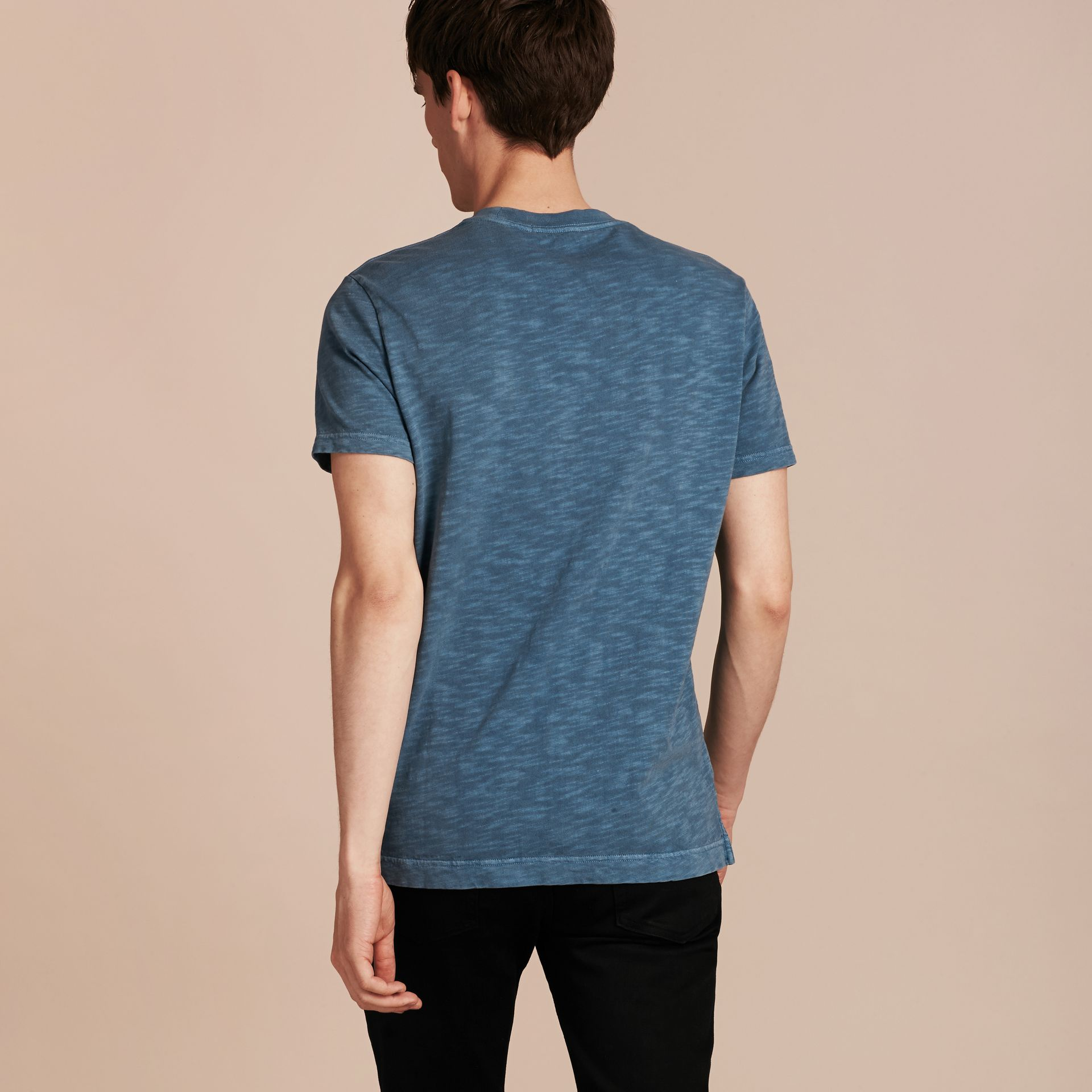 Lupin blue Slub Jersey Double Dyed T-Shirt Lupin Blue - gallery image 3