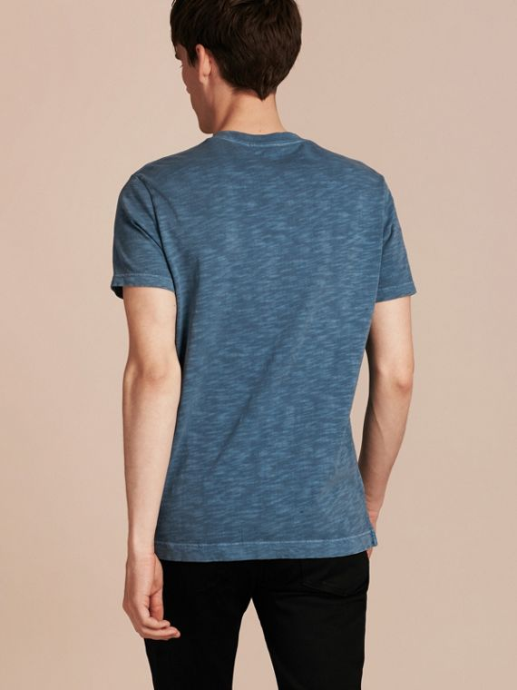Lupin blue Slub Jersey Double Dyed T-Shirt Lupin Blue - cell image 2