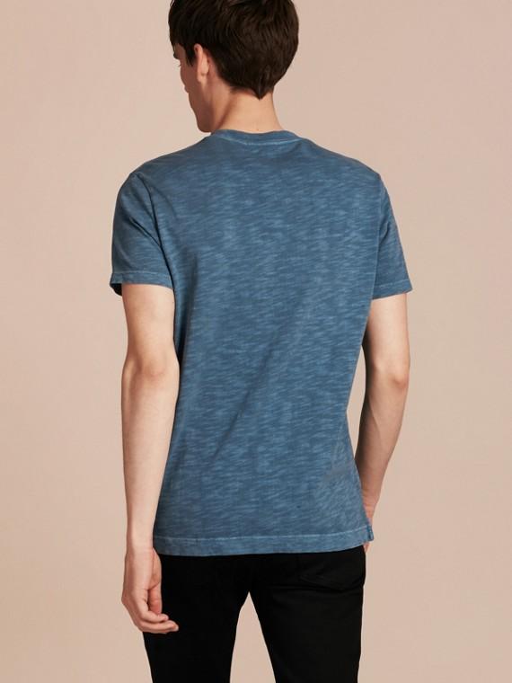 Bleu lupin T-shirt en jersey flammé double teinture Bleu Lupin - cell image 2