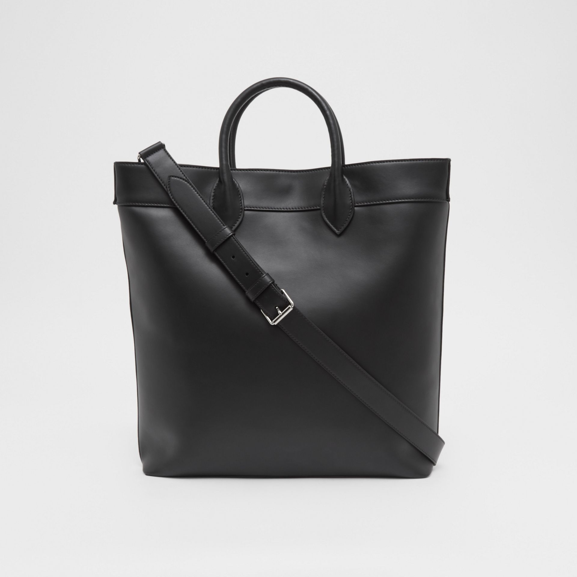 Leather Tote in Black - Men | Burberry United Kingdom - gallery image 9