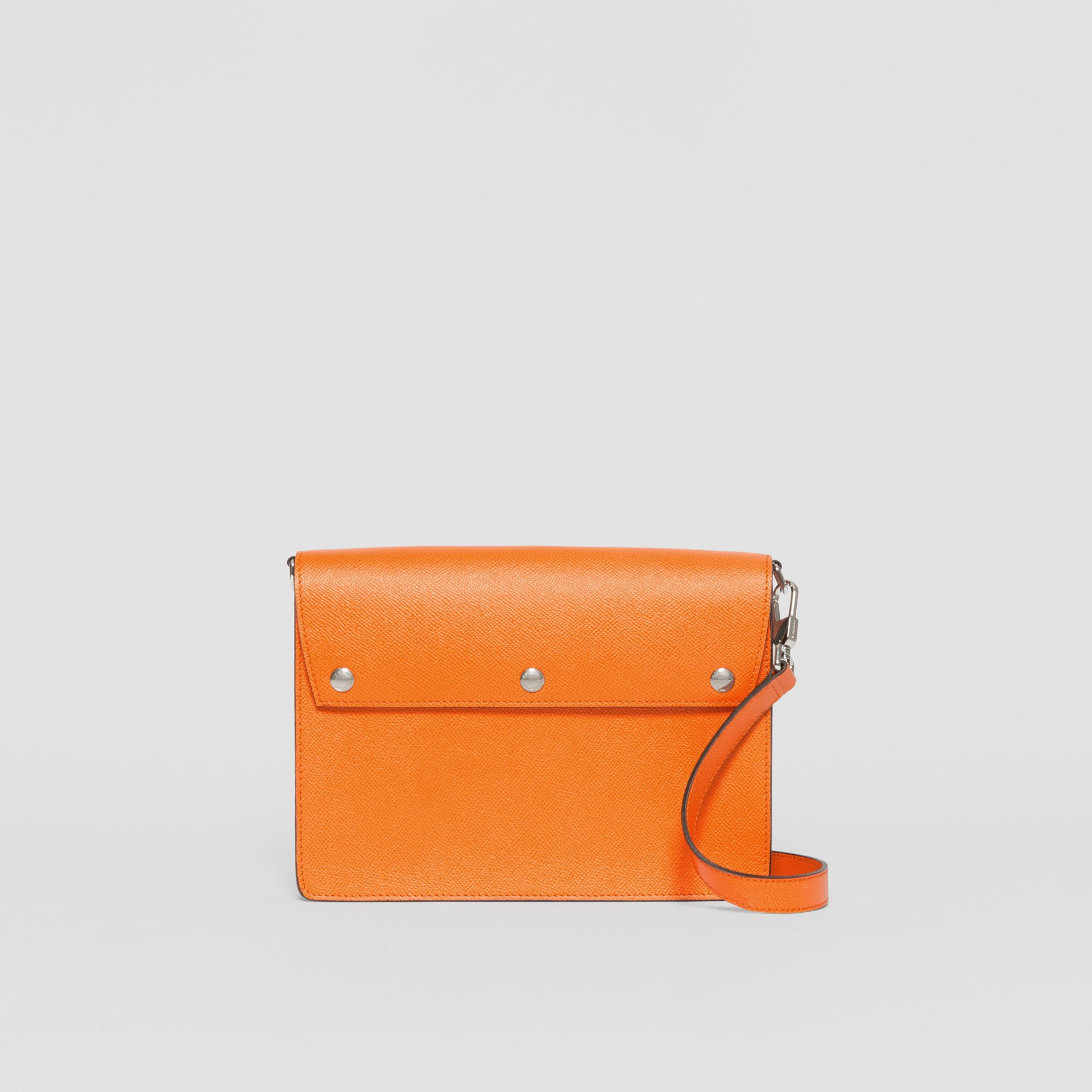 Triple Stud Grainy Leather Crossbody Bag in Bright Orange - Men | Burberry - gallery image 0