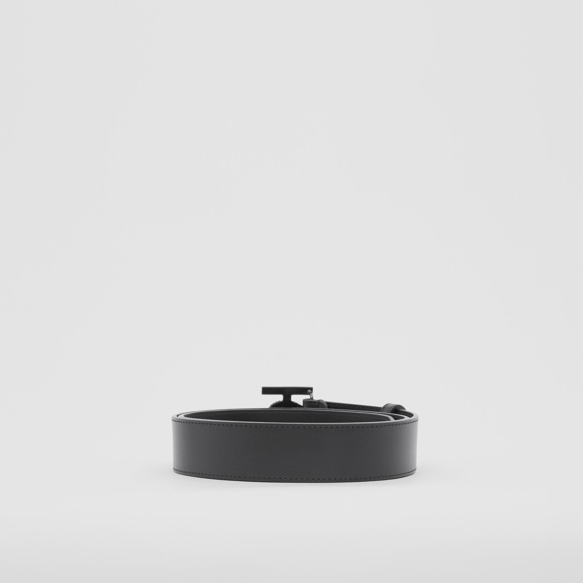 Cinturón en piel con monograma y cristales (Negro) - Hombre | Burberry - imagen de la galería 4