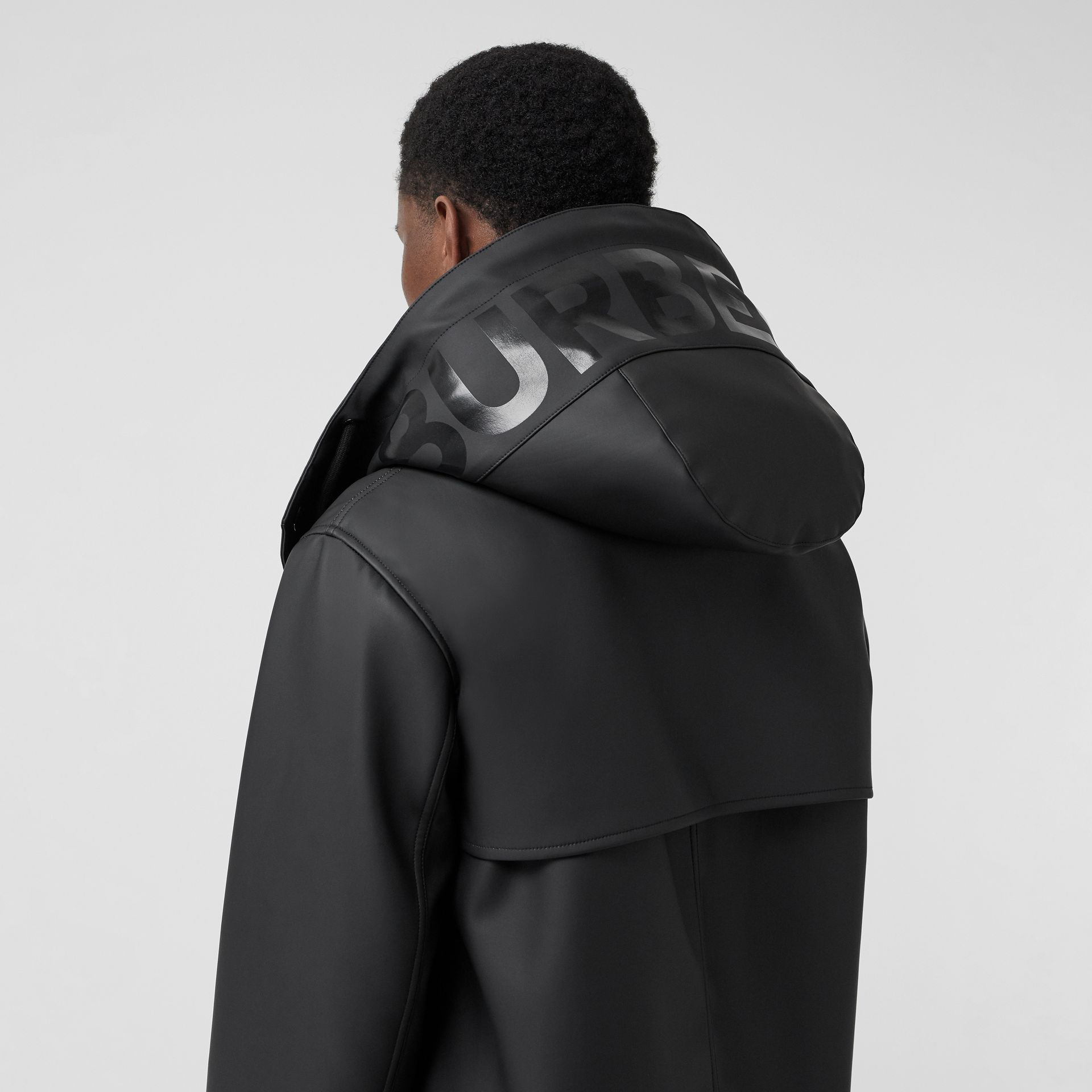 Detachable Hood Showerproof Jacket in Black - Men | Burberry Australia - gallery image 4
