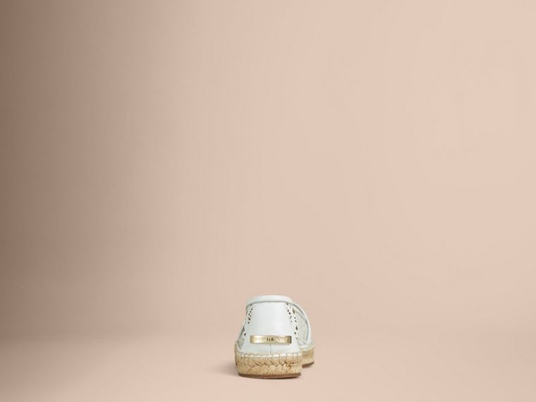 Optic white Laser-cut Lambskin Espadrilles Optic White - cell image 1