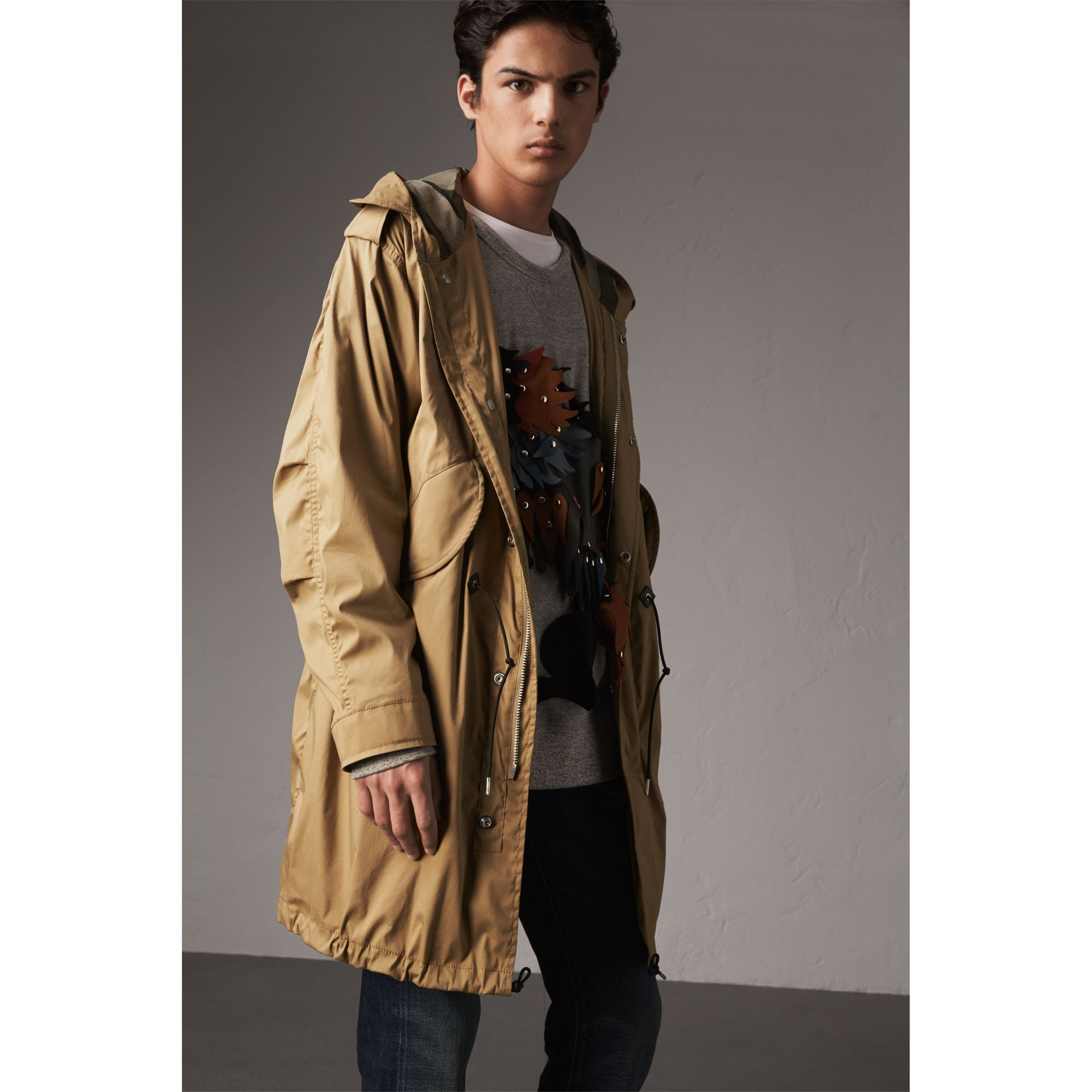 Cotton Blend Twill Parka - Men | Burberry - gallery image 5