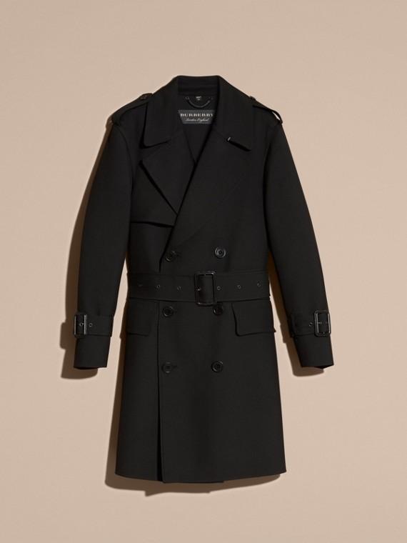 Nero Trench coat in twill di lana dal taglio comodo - cell image 3