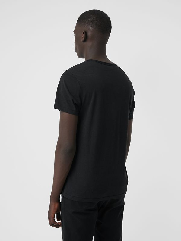 Cotton Jersey T-shirt in Black - Men | Burberry Canada - cell image 2