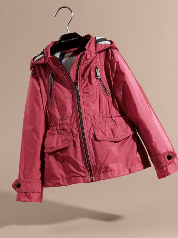 Hooded Packaway Technical Jacket Pink Azalea - cell image 2