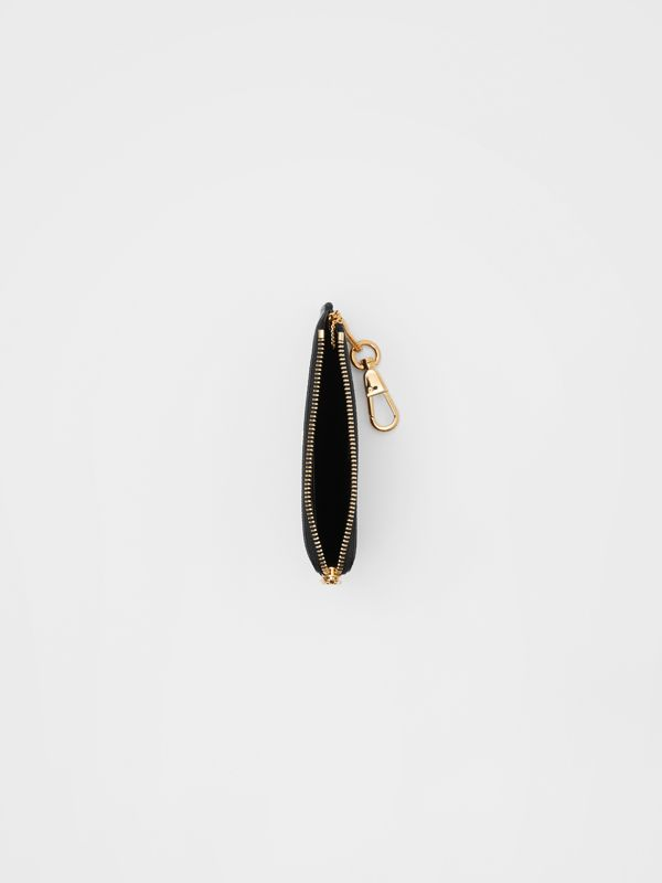 Monogram Motif Grainy Leather Zip Coin Case in Black - Women | Burberry - cell image 2