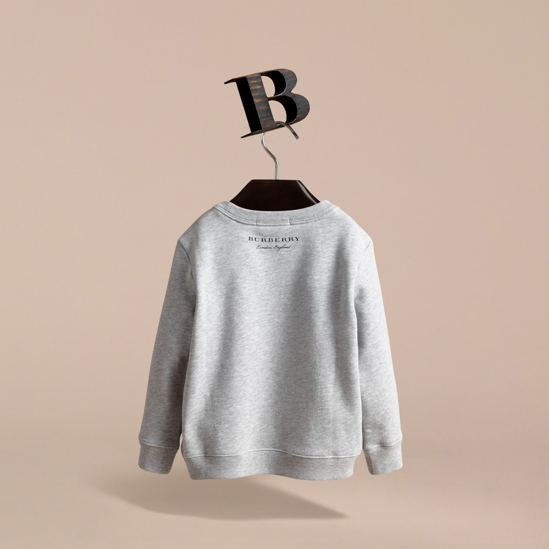 Pallas Helmet Motif Cotton Jersey Sweatshirt - Girl | Burberry - gallery image 4