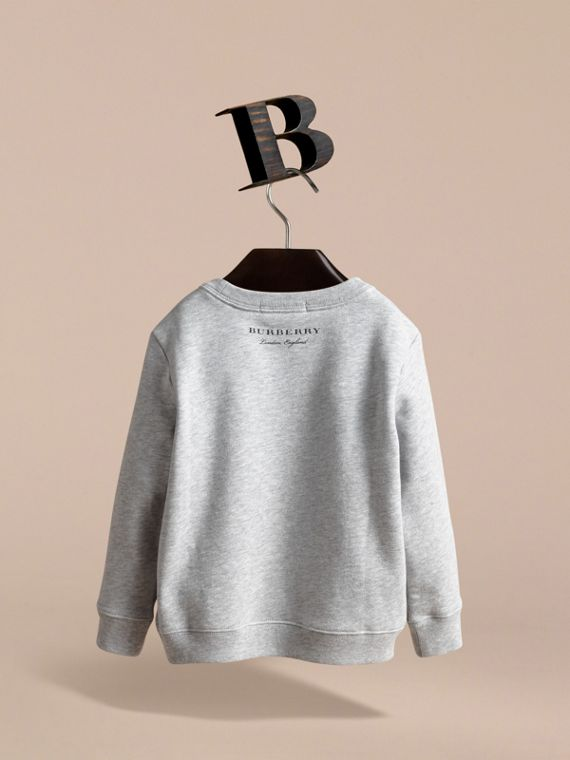 Pallas Helmet Motif Cotton Jersey Sweatshirt - Girl | Burberry Canada - cell image 3