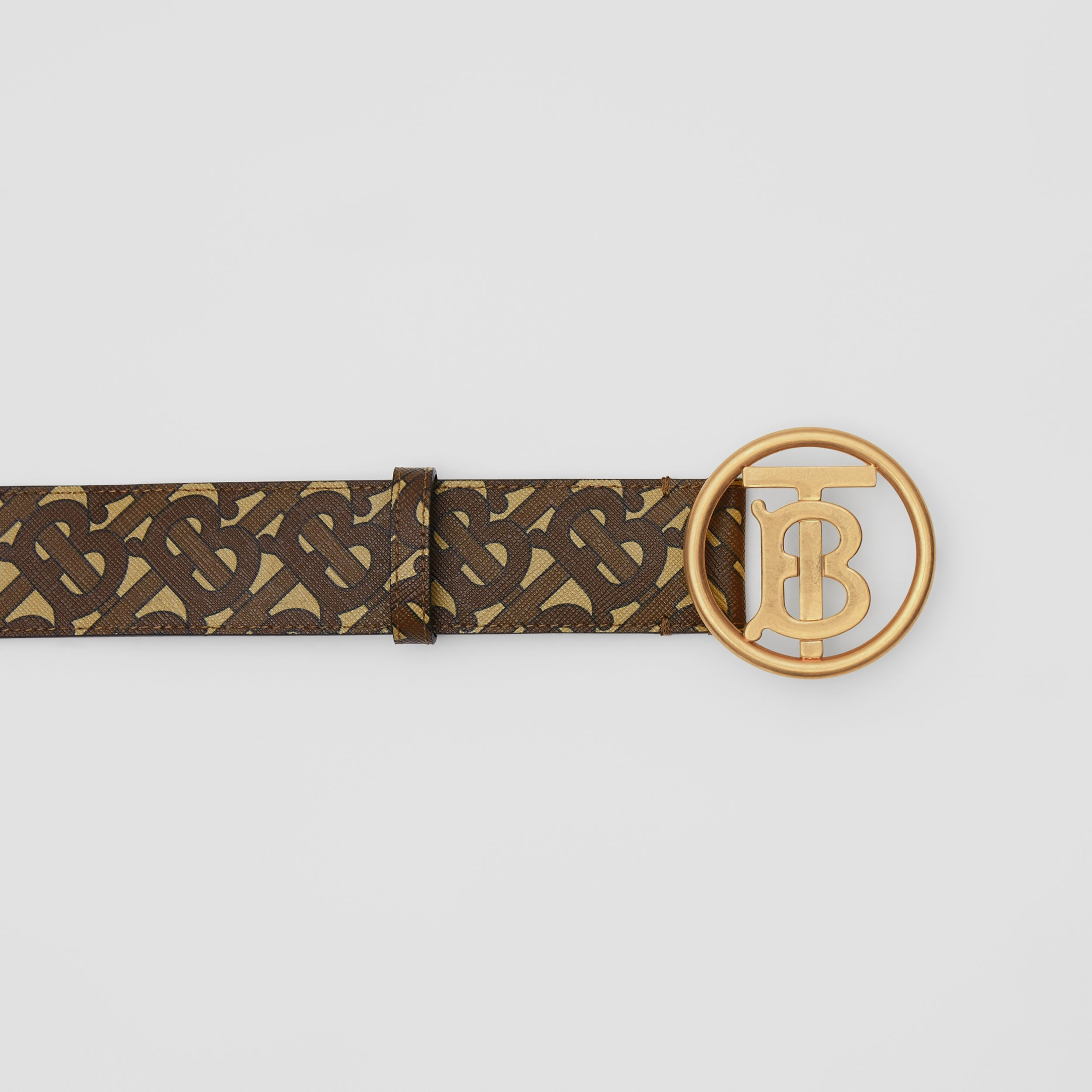Monogram Motif Monogram Print E-canvas Belt in Bridle Brown - Women | Burberry Australia - 2