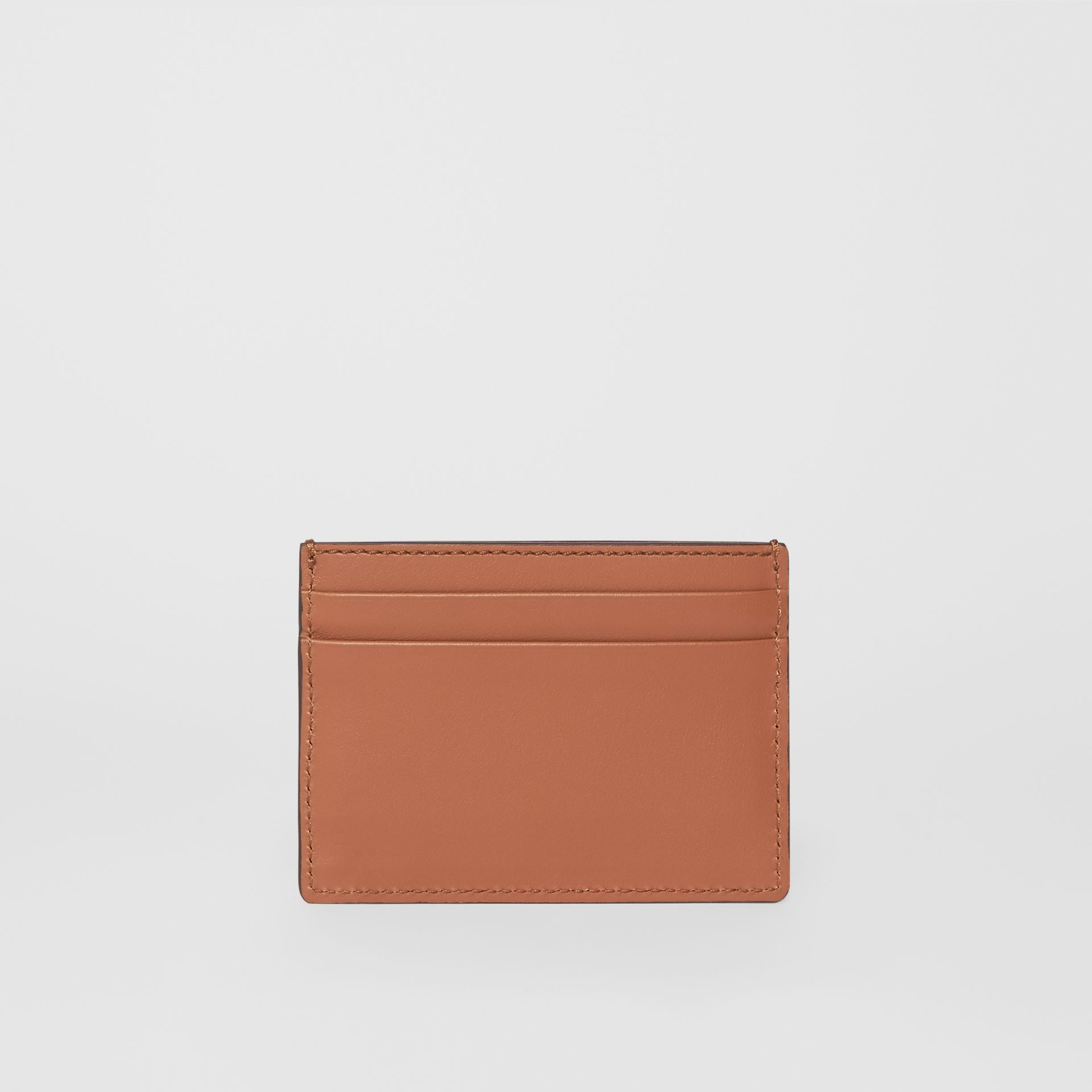 Horseferry Print Leather Card Case in Malt Brown - Men | Burberry - gallery image 4