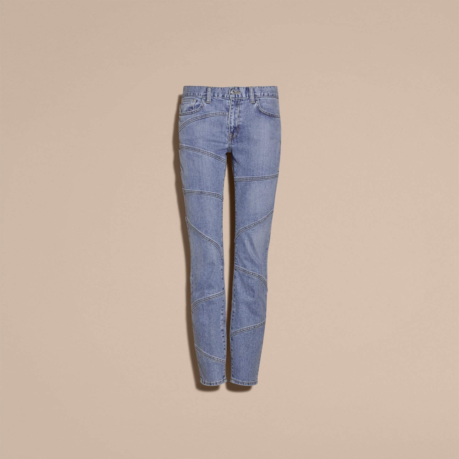 Slim Fit Seam Detail Japanese Denim Jeans - Women | Burberry - gallery image 4