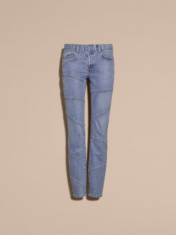 Slim Fit Seam Detail Japanese Denim Jeans - Women | Burberry - cell image 3