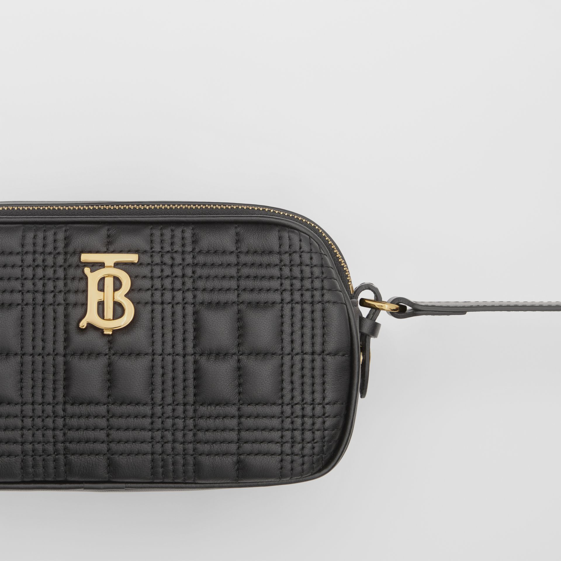 Mini Quilted Lambskin Camera Bag in Black   Burberry United Kingdom - gallery image 1