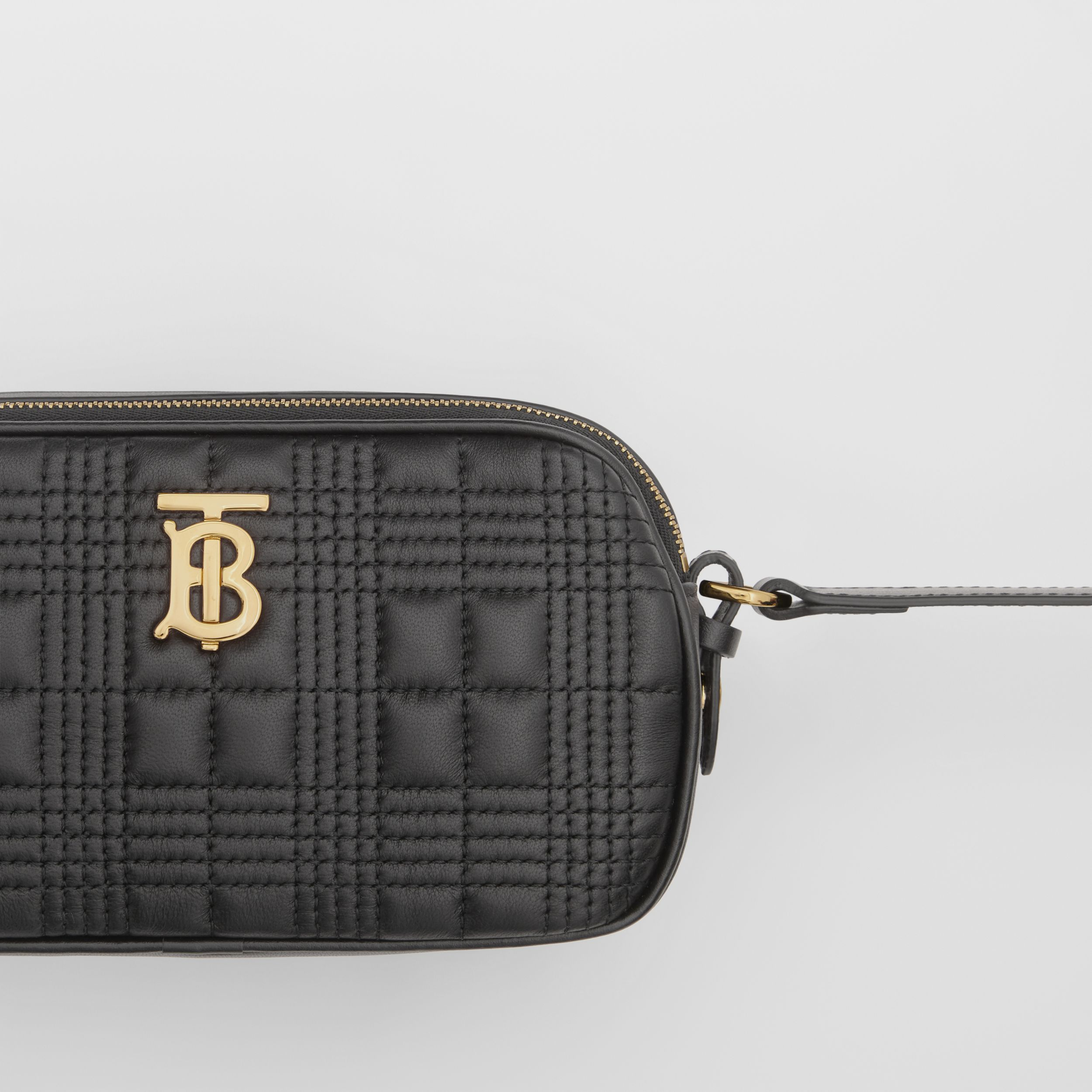Mini Quilted Lambskin Camera Bag in Black | Burberry Canada - 2
