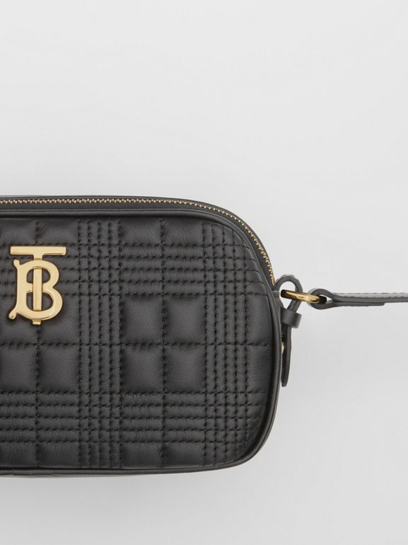 Mini Quilted Lambskin Camera Bag in Black   Burberry United Kingdom - cell image 1