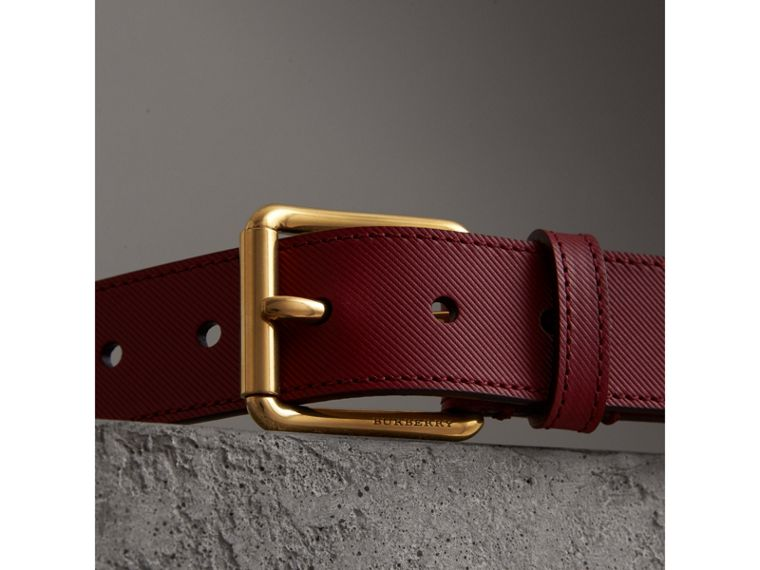 Trench Leather Belt in Antique Red - Men | Burberry Australia - cell image 1