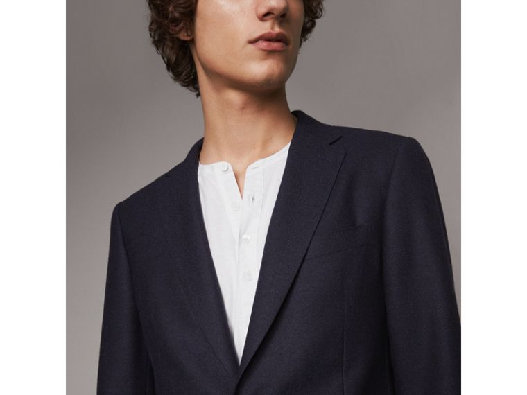 Soho Fit Wool Flannel Suit in Navy Melange - Men | Burberry - cell image 1