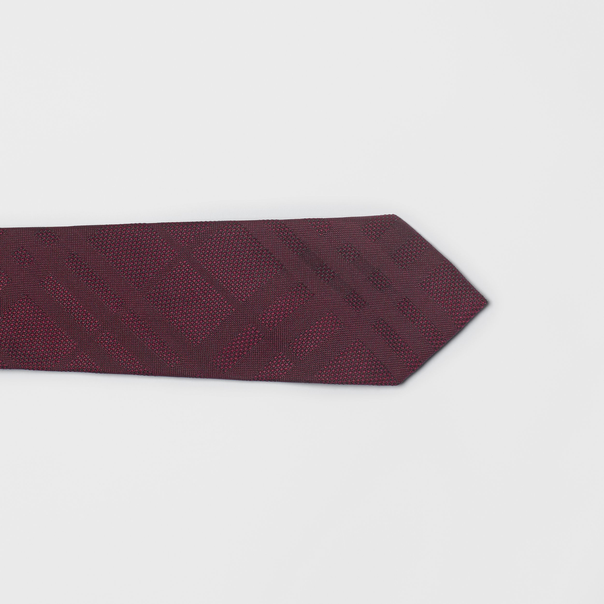 Classic Cut Check Silk Jacquard Tie in Deep Claret - Men | Burberry - 2