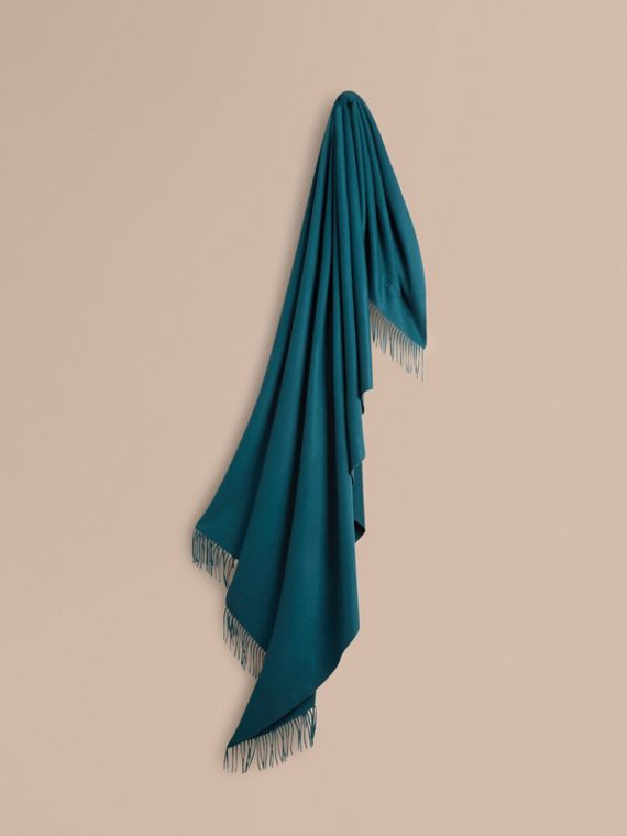 Cashmere Blanket in Dark Teal | Burberry Canada