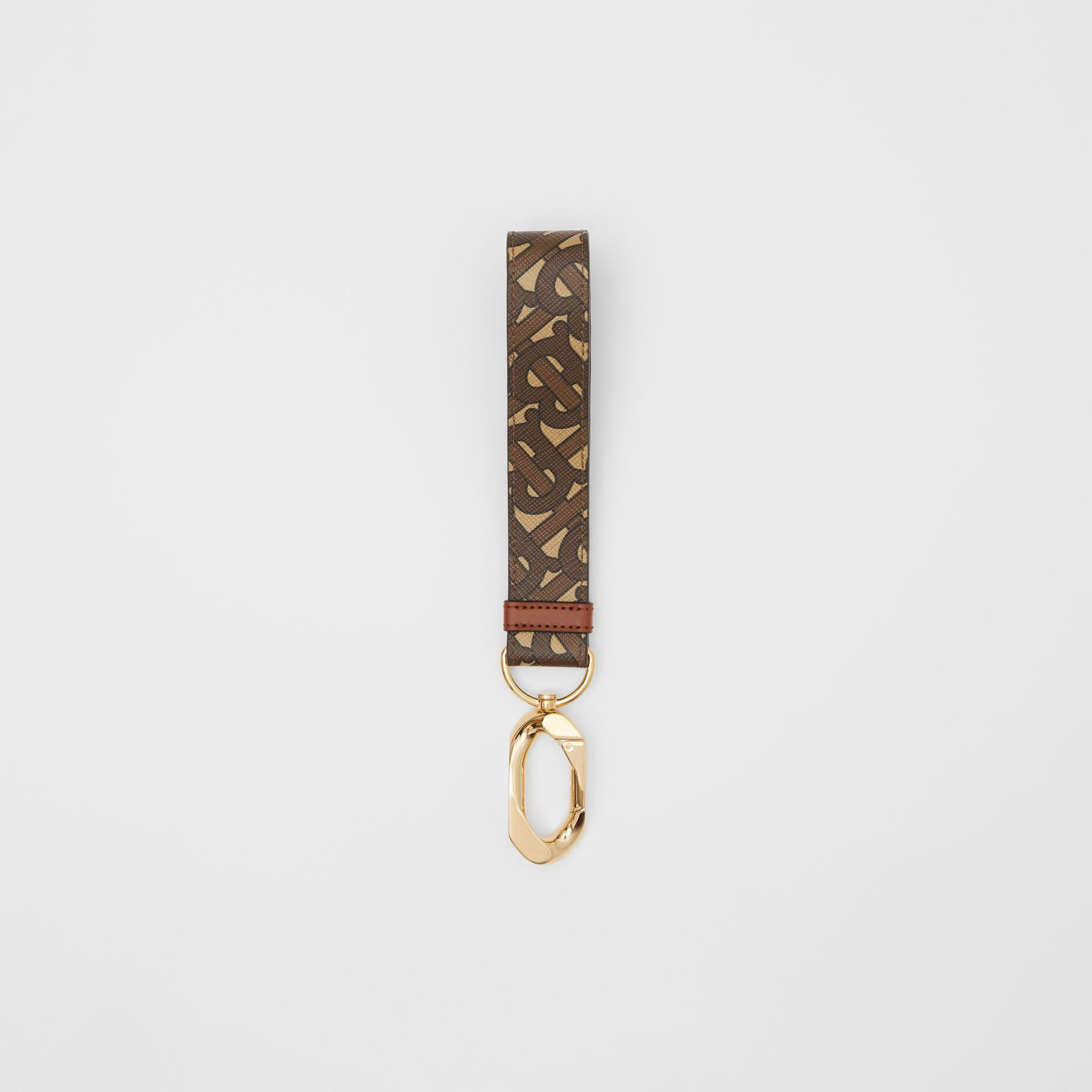 Monogram Print E-canvas Charm in Bridle Brown - Women | Burberry - gallery image 2