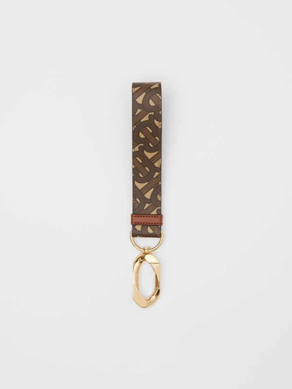 Monogram Print E-canvas Charm in Bridle Brown - Women | Burberry - cell image 2