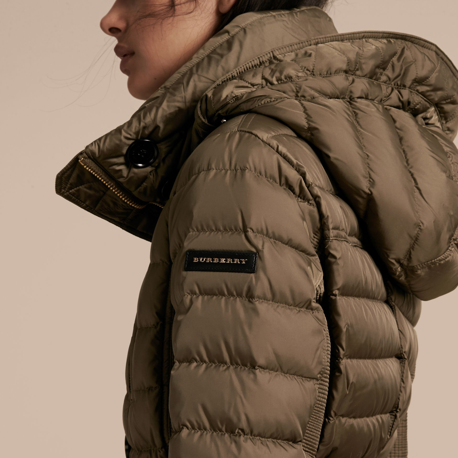 Mink grey Down-filled Parka with Fur Trim Mink Grey - gallery image 5