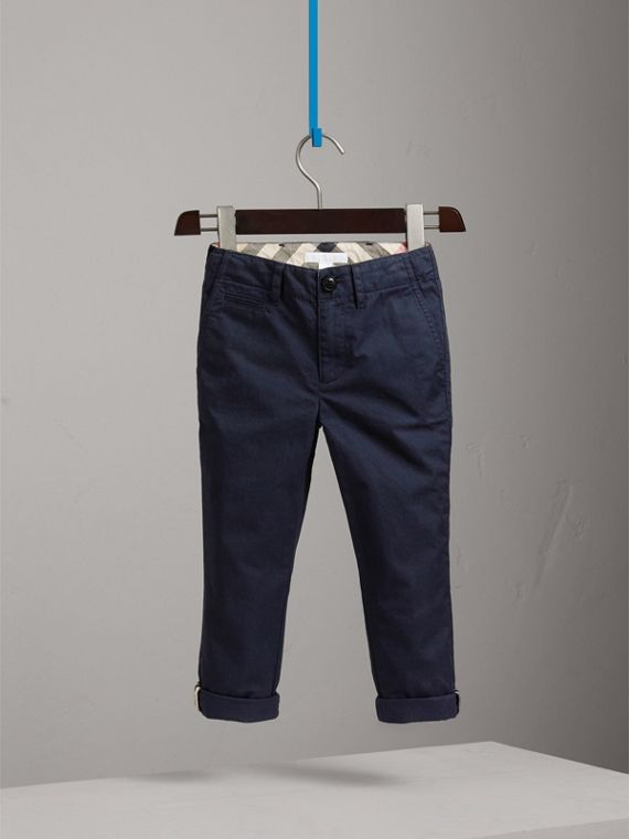 Cotton Chinos in Ink - Boy | Burberry - cell image 2