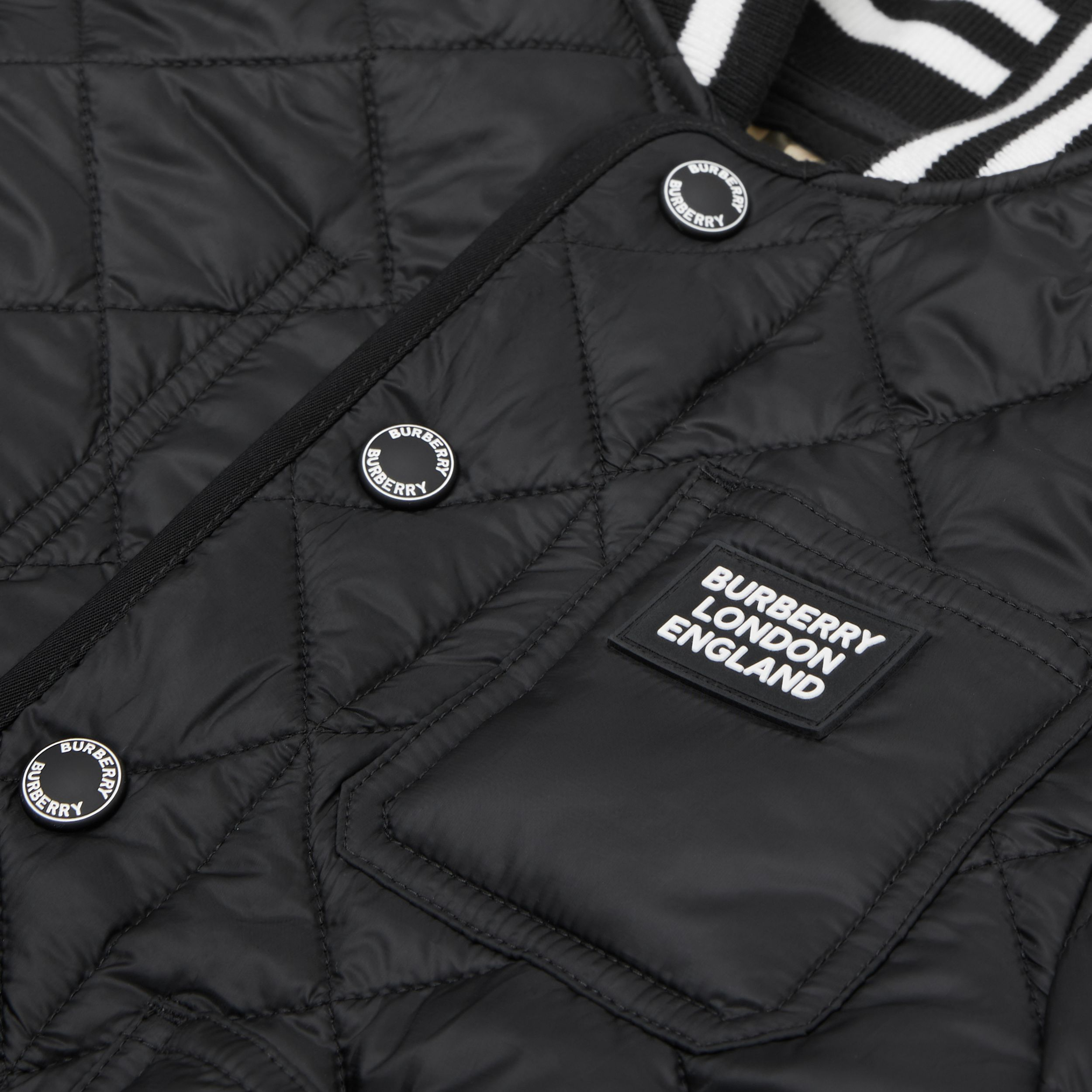 Recycled Polyester Diamond Quilted Jacket | Burberry - 2