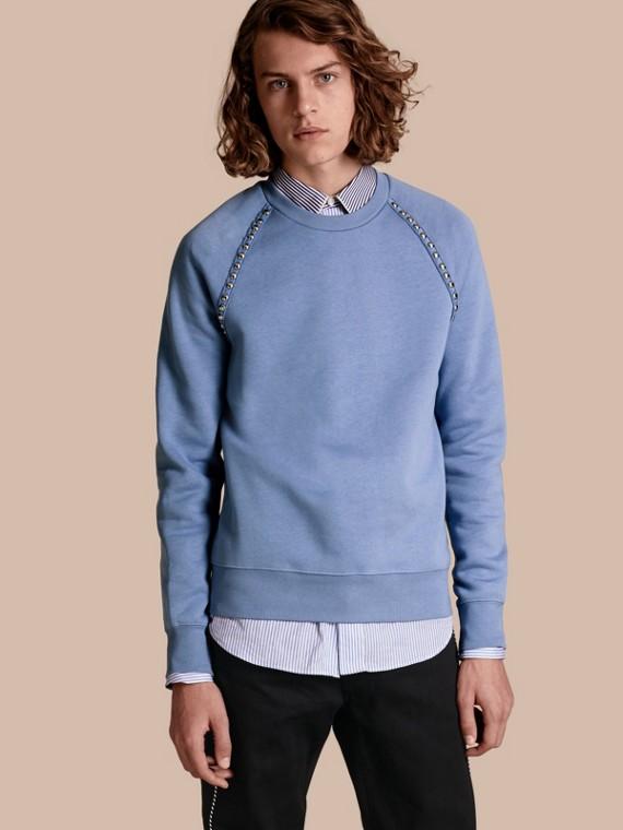 Suéter de algodão com detalhe de tachas