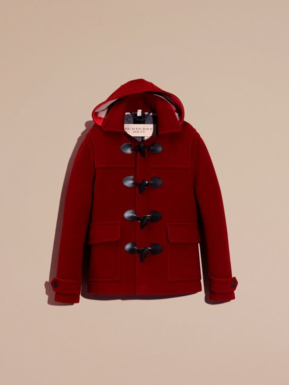 Parade red Wool Detachable Hood Duffle Jacket - cell image 3