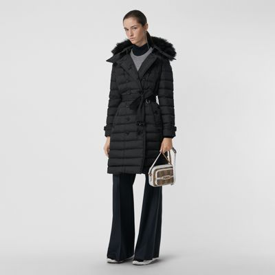 Detachable Hood Down Filled Puffer Coat by Burberry
