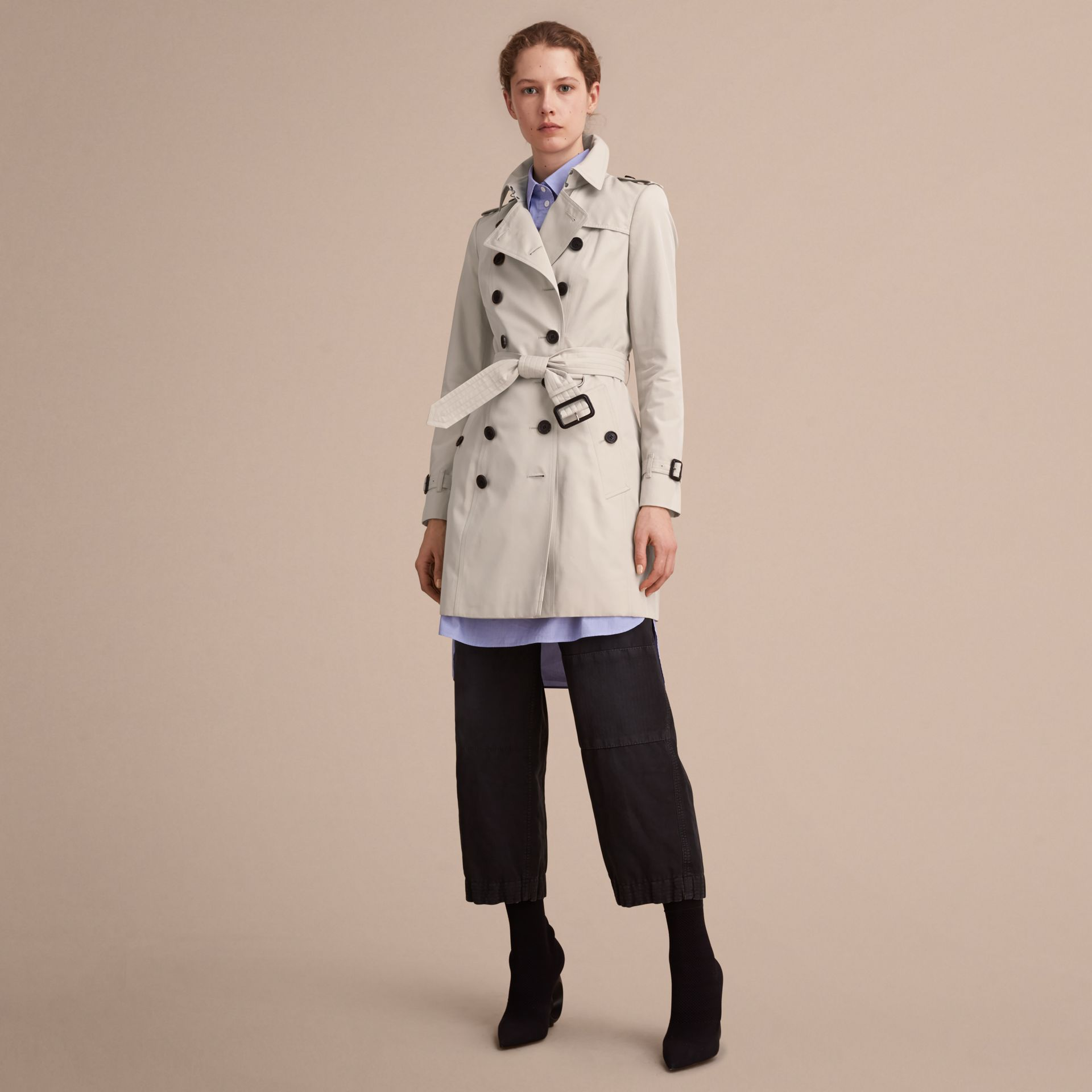 Stone The Chelsea – Mid-length Heritage Trench Coat Stone - gallery image 8