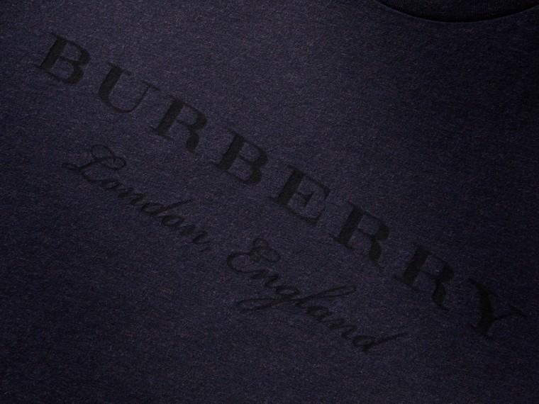 Devoré Cotton Jersey T-shirt in Navy Melange - cell image 1