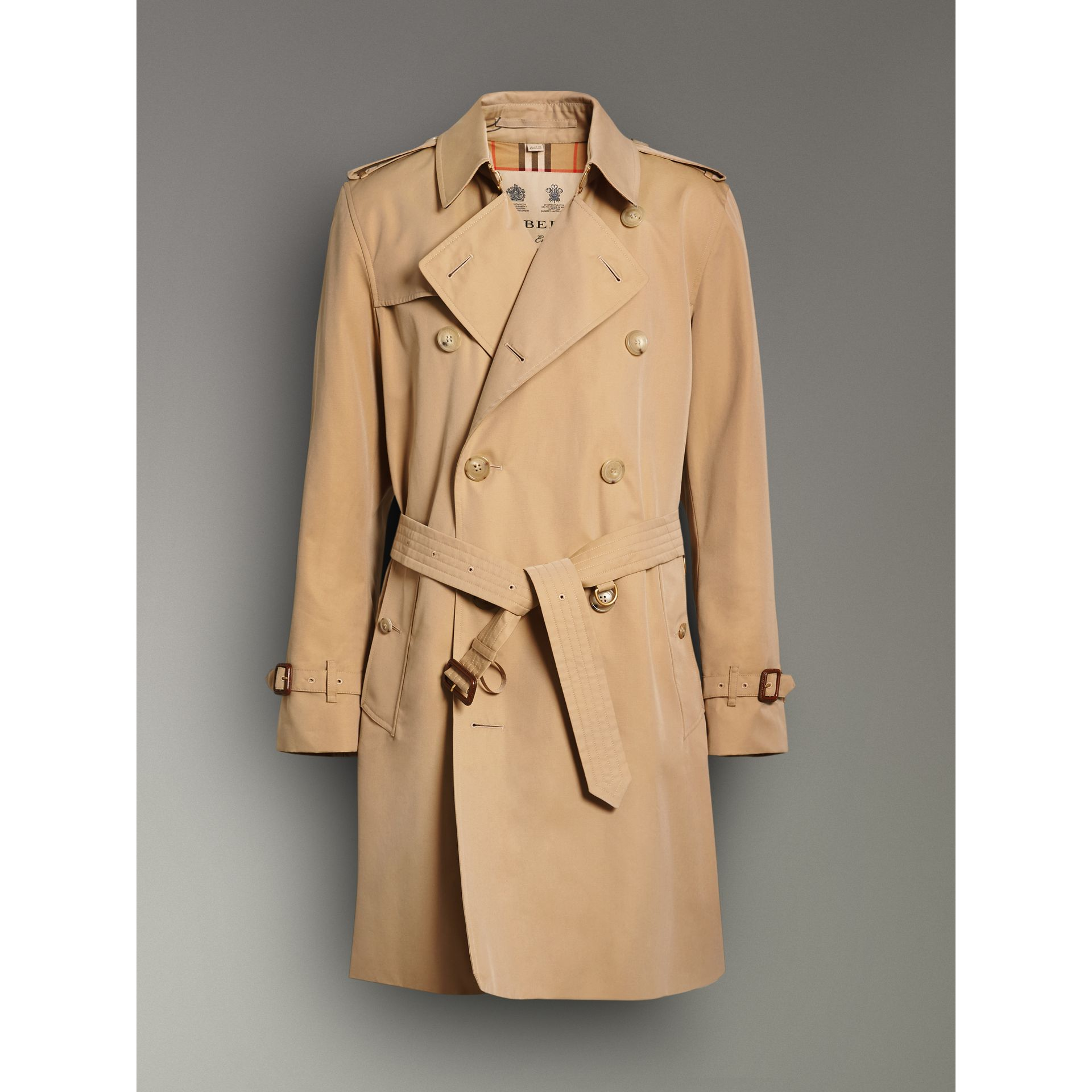The Kensington Heritage Trench Coat in Honey - Men | Burberry - gallery image 3